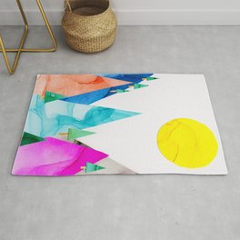 Mountain Pass Landscape Rug