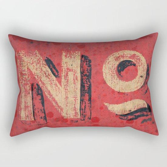 No non Red Rectangular Pillow