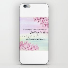 Marriage Quote (Love Quote) iPhone Skin