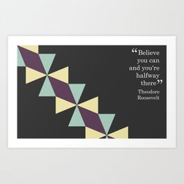 Oragami Traingles Art Print
