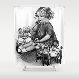Playing with Dolls Shower Curtain