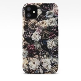 Flower Wall // Desaturated Vintage Floral Accent Background Jaw Dropping Decoration iPhone Case