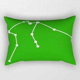Aquarius (White & Green) Rectangular Pillow