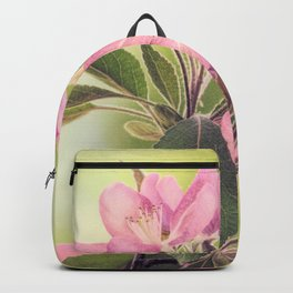 Pink Spring Modern Cottage Chic Flowers Art A460 Backpack