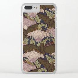 Vintage Art Deco Bat and Flowers Clear iPhone Case
