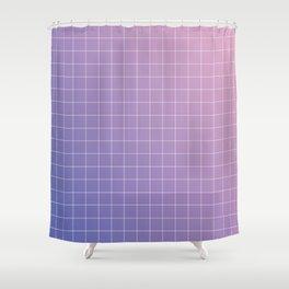 purple / pink - grid Shower Curtain
