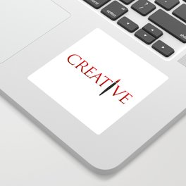 Creative Word with Pen Sticker