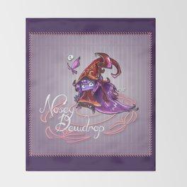 Nosey Dewdrop Throw Blanket