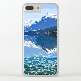 Reflection of Mountains in McDonald lake Clear iPhone Case