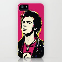 Sid Vicious Pop Art Quote Punk Portrait iPhone Case