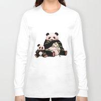 pandas Long Sleeve T-shirts featuring Pandas by J ō v