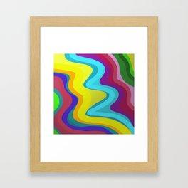 Metallic Curves Framed Art Print
