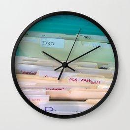 Files Wall Clock