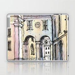 Urbansketch Watercolor of Ljubljana City Laptop & iPad Skin