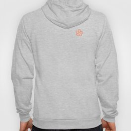 Polka flower dots - Peach Bud Hoody