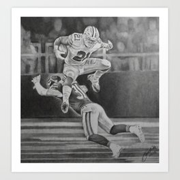 "Zeke-""Jump"" Art Print"