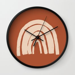 Terracotta Rainbow  Wall Clock