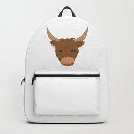 Highland cow | animal illustration art |  Backpack