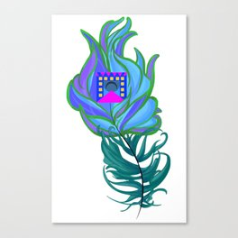 21st Century Peacock Feather Canvas Print