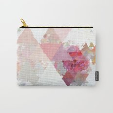 Pink white rosegold triangle pattern Carry-All Pouch