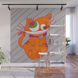 Deranged Cat Wall Mural