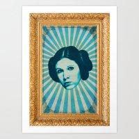 leia Art Prints featuring Leia by Durro