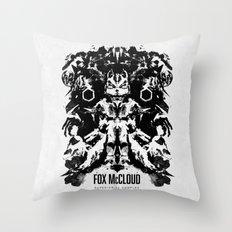 Fox McCloud Star Fox Inspired Geek Psychological Inkblot Throw Pillow