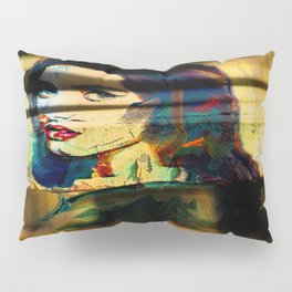 Painted Persephone On Rust Pillow Sham