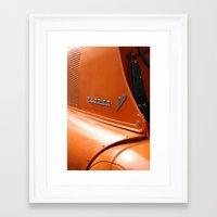 porsche Framed Art Prints featuring Allgaier Porsche by Christine baessler