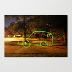 Glowstick Car Canvas Print