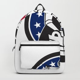 American Laundry USA Flag Icon Backpack