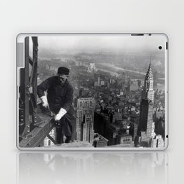Construction worker Empire State Building NYC Laptop & iPad Skin