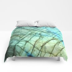 Labradorite gemstone print Comforters