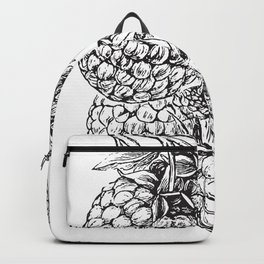 Engraved Raspberries Backpack