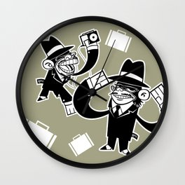 Köpke's Mafia Monkeys! Wall Clock