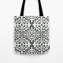 Indian Decorative Motifs-Black & White Tote Bag
