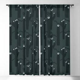 Dark Green Cactus Pattern | Saguaro Cactus Pattern Blackout Curtain