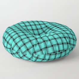 Small Turquoise Weave Floor Pillow