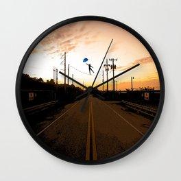 Wire walker Wall Clock