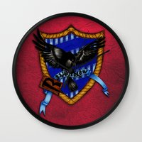 ravenclaw Wall Clocks featuring Ravenclaw by JanaProject