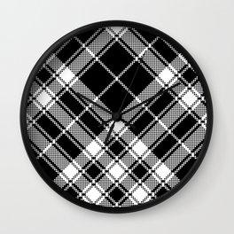 Black & White Plaid Wall Clock