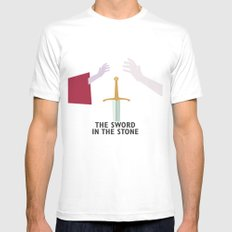 The Sword in the Stone - Movie Poster - Penguin Book version Mens Fitted Tee White MEDIUM