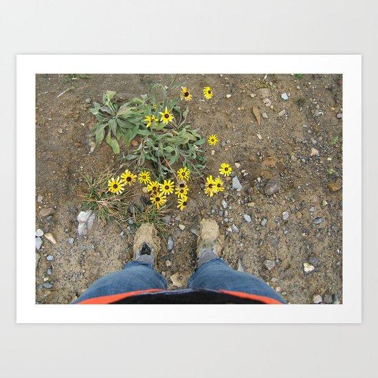 Muddy Boots Art Print