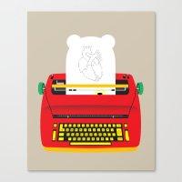 typewriter Canvas Prints featuring Typewriter by EinarOux