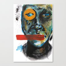 Geometry Face Canvas Print