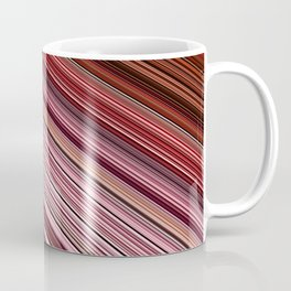 Maroon Earthy Filaments Digital Threads Coffee Mug