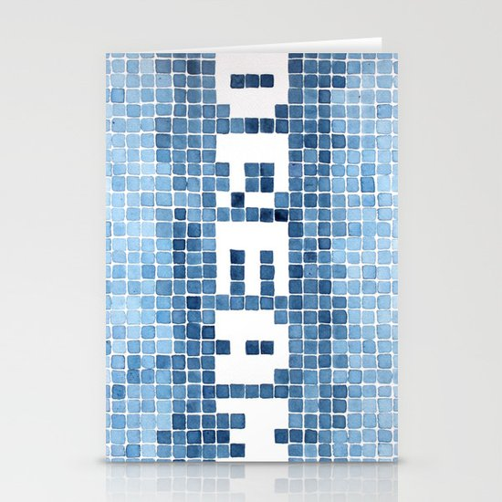 Dream watercolor mosaic typography Stationery Cards