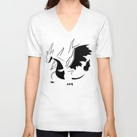 charizard V-neck T-shirts featuring Charizard Mega Y by Ruo7in