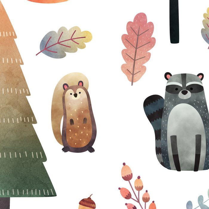 forest friends Leggings