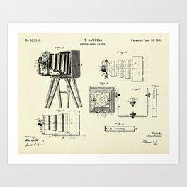 Photographic Camera-1885 Art Print